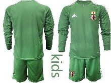 Youth 19-20 Soccer Japan Club Custom Made Dark Green Goalkeeper Long Sleeve Suit Jersey
