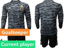 Mens 19-20 Soccer Japan Club Current Player Yellow Goalkeeper Long Sleeve Suit Jersey