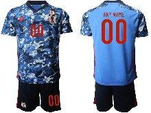Mens 19-20 Soccer Japan Club Custom Made Home Goalkeeper Short Sleeve Suit Jersey