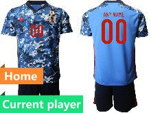 Mens 19-20 Soccer Japan Club Current Player Black Goalkeeper Short Sleeve Suit Jersey