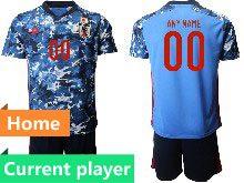 Mens 19-20 Soccer Japan Club Current Player Black Goalkeeper Short Sleeve Suit Jersey