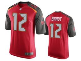 Mens Nfl Tampa Bay Buccaneers #12 Brady Red (black Sleeve) Vapor Untouchable Limited Jerseys