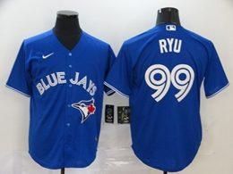 Mens Mlb Los Angeles Dodgers #99 Hyun-jin Ryu Blue Cool Base Nike Jersey
