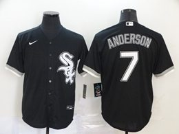 Mens Mlb Chicago White Sox #7 Tim Anderson Black Cool Base Nike Jersey