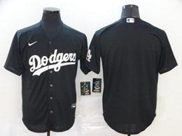 Mens Mlb Los Angeles Dodgers Blank Black Cool Base Nike Jersey