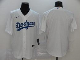 Mens Mlb Los Angeles Dodgers Blank White Cool Base Nike Jersey