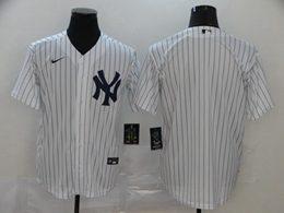 Mens Mlb New York Yankees 2020 Blank White Stripe Cool Base Nike Jersey