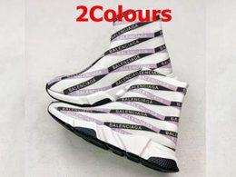 Men And Women Balenciaga Socks Running Shoes 2 Colors