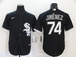 Mens Mlb Chicago White Sox #74 Eloy Jimenez Black Cool Base Nike Jersey