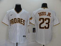 Mens Mlb San Diego Padres #23 Fernando Tatis Jr. White Stripe Cool Base Nike Jersey