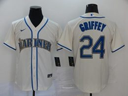 Mens Mlb Seattle Mariners #24 Ken Griffey Jr Cream Cool Base Nike Jersey