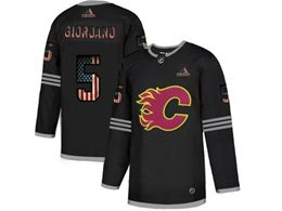 Mens Nhl Calgary Flames #5 Mark Giordano Black 2020 National Flag Adidas Jersey