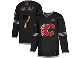 Mens Nhl Calgary Flames #7 T.j.brodie Black 2020 National Flag Adidas Jersey
