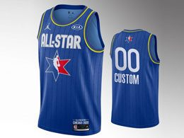 Mens 2020 All Star Nba Mens Custom Made Blue Swingman Jordan Brand Jersey