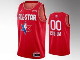 Mens 2020 All Star Nba Mens Custom Made Red Swingman Jordan Brand Jersey