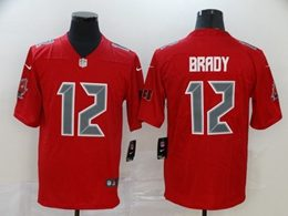 Mens Nfl Tampa Bay Buccaneers #12 Brady Red Color Rush Vapor Untouchable Limited Player Jersey