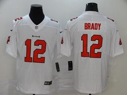 Mens Nfl Tampa Bay Buccaneers #12 Brady White (white Sleeve) Vapor Untouchable Limited Jerseys