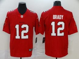 Mens Women Youth Nfl Tampa Bay Buccaneers #12 Brady Red Vapor Untouchable Limited Player Jersey