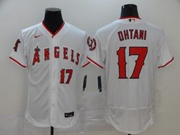 Mens Mlb Los Angeles Angels #17 Shohei Ohtani White Flex Base Nike Jersey