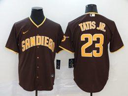 Mens Mlb San Diego Padres #23 Fernando Tatis Jr. Brown Cool Base Nike Jersey