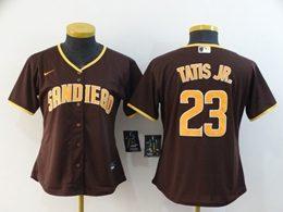 Women Mlb San Diego Padres #23 Fernando Tatis Jr. Brown Cool Base Nike Jersey