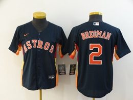 Women Youth Mlb Houston Astros #2 Alex Bregman Blue Cool Base Nike Jersey