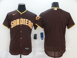 Mens Mlb San Diego Padres Blank Brown Flex Base Nike Jersey