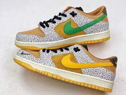 Mens And Women Nike Sb Dunk Low Safari Running Shoes One Color