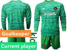 Youth 20-21 Soccer Atlanta United Club Current Player Green Goalkeeper Long Sleeve Suit Jersey