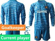 Youth 20-21 Soccer Atlanta United Club Current Player Blue Goalkeeper Long Sleeve Suit Jersey