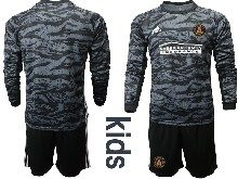 Youth 20-21 Soccer Atlanta United Club ( Custom Made ) Black Goalkeeper Long Sleeve Suit Jersey