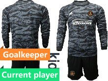 Kids 20-21 Soccer Atlanta United Club Current Player Black Goalkeeper Long Sleeve Suit Jersey