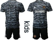 Youth 20-21 Soccer Atlanta United Club ( Custom Made ) Black Goalkeeper Short Sleeve Suit Jersey
