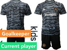 Youth 20-21 Soccer Atlanta United Club Current Player Black Goalkeeper Short Sleeve Suit Jersey
