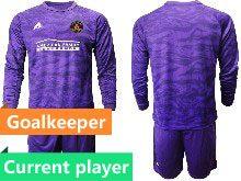 Mens 20-21 Soccer Atlanta United Club Current Player Purple Goalkeeper Long Sleeve Suit Jersey