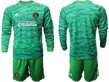 Mens 20-21 Soccer Atlanta United Club ( Custom Made ) Green Goalkeeper Long Sleeve Suit Jersey
