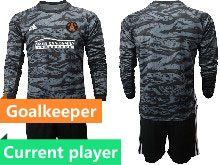 Mens 20-21 Soccer Atlanta United Club Current Player Black Goalkeeper Long Sleeve Suit Jersey
