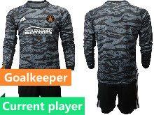 Mens 20-21 Soccer Atlanta United Club Current Player Black Goalkeeper Long Sleeve Suit Jersey