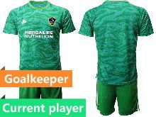 Mens 20-21 Soccer Los Angeles Galaxy Club Current Player Green Goalkeeper Short Sleeve Suit Jersey