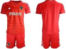 Mens 20-21 Soccer Los Angeles Galaxy Club ( Custom Made ) Red Goalkeeper Short Sleeve Suit Jersey