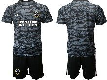 Mens 20-21 Soccer Los Angeles Galaxy Club ( Custom Made ) Black Goalkeeper Short Sleeve Suit Jersey