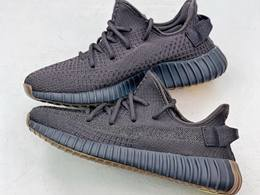 Mens And Women Adidas Yeezy Boost 350 V2 Cinder Running Shoes Black Color
