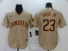 Mens Mlb San Diego Padres #23 Fernando Tatis Jr. Cream Stripe Cool Base Nike Jersey