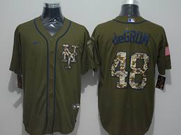 Mens Women Mlb New York Mets #48 Jacob Degrom Army Green Cool Base Nike Jersey