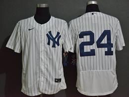 Mens Mlb New York Yankees #24 Gary Sanchez White Flex Base Nike Jersey No Name