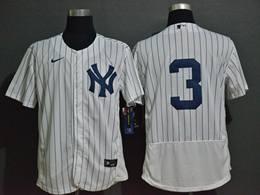 Mens Mlb New York Yankees #3 Babe Ruth White Flex Base Nike Jersey No Name