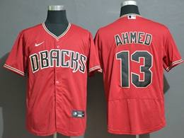 Mens Mlb Arizona Diamondbacks #13 Nick Ahmed Red Flex Base Nike Jersey