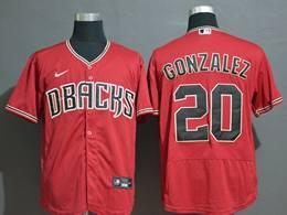 Mens Mlb Arizona Diamondbacks #20 Luis Gonzalez Red Flex Base Nike Jersey