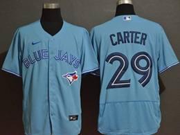 Mens Mlb Toronto Blue Jays #29 Joe Carter Light Blue Flex Base Nike Jersey