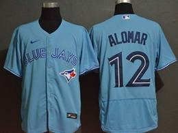 Mens Mlb Toronto Blue Jays #12 Roberto Alomar Light Blue Flex Base Nike Jersey